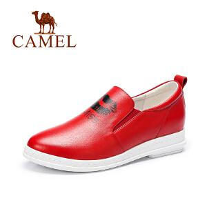 Camel/骆驼女鞋 秋季新款红唇印花 单鞋休闲舒适套脚女鞋