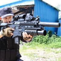 儿童HK求生M416吃鸡98k玩具枪 电动连发*M4绝地男孩