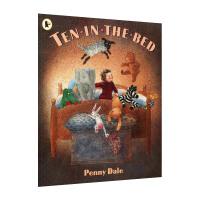 点读版 进口英文原版Ten in the Bed 十个小朋友一张床 数数歌 吴敏兰书单 支持毛毛虫点读笔[平装]