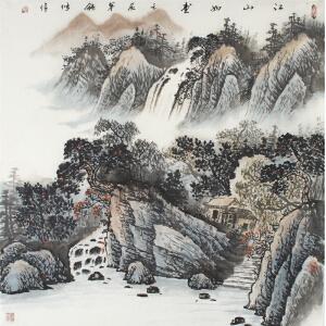 卢静《江山如画》69*69cm