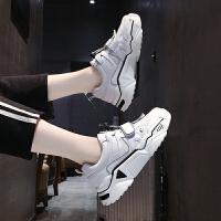 黑色运动鞋女秋季女鞋2019秋鞋百搭学生厚底增高休闲子
