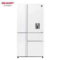 夏普(SHARP) SJ-DX80F-WH 657L原装进口 对开五门 风冷无霜 PCI净离子群 纳米低温除臭触媒 冰箱
