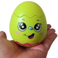 电动不倒翁灯光音乐蛋壳小精灵宝宝玩具生日礼物
