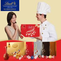 Lindt瑞士�lindor�心巧克力球14粒�Y盒168克牛奶特�夂�