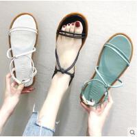 韩国ulzzang学院风抖音同款夏日凉鞋女平底温柔风仙女晚晚鞋潮