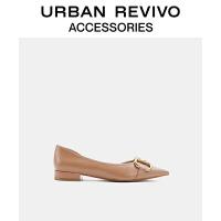URBAN REVIVO2021春夏新品女士配件尖头气质低跟单鞋AW14TS1N2001