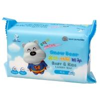 小白熊 韩国进口婴儿洗衣皂尿布皂200gBB肥皂儿童肥皂宝宝洗衣皂(香草香)