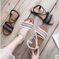 平底休闲沙滩鞋女凉鞋新款学生女鞋韩版百搭网红仙女鞋