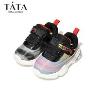 【159元任选2双】Tata他她童鞋宝宝皮鞋冬季婴童学步鞋女童休闲小皮鞋保暖小靴子