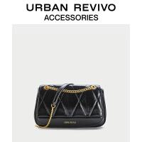 URBAN REVIVO2021春夏新品女士配件菱格单肩斜挎包AW06BB2N2005