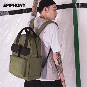 Epiphqny2018新款潮手提两用双肩包男旅行休闲多功能学生校园书包