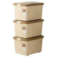 [当当自营]禧天龙 60L 3个装 大号塑料滑轮整理箱 环保储物收纳箱升级款超值 6063收纳盒