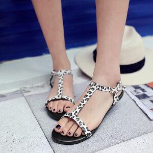 O'SHELL欧希尔新品057-1679T韩版平底鞋女士凉鞋