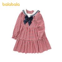 【2件6折价:167.9】巴拉巴拉女童连衣裙儿童裙子春秋装童装2021新款女大童海军领格子