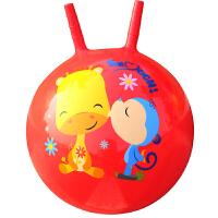 费雪(Fisher Price)玩具 儿童玩具球 宝宝跳跳球羊角球40cm(红色 赠充气脚泵)F0704H