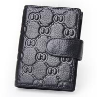 Yvong韵歌牛皮压纹男女款卡片包名片包多卡位卡包真皮驾驶证套皮套卡夹
