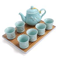 陶瓷茶杯套�b家用�F代��s泡茶�夭璞�中式大�茶�厮屯斜P