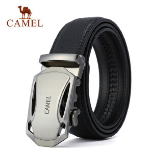 Camel/骆驼男士牛皮皮带商务休闲裤带男版中青年自动扣腰带男