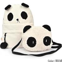 【支持礼品卡支付】新款韩版卡通包熊猫子母包双肩包帆布包 MW-熊猫母子