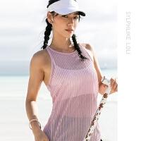 暴走的萝莉 无袖健身房运动背心女跑步速干上衣透气宽松瑜伽罩衫