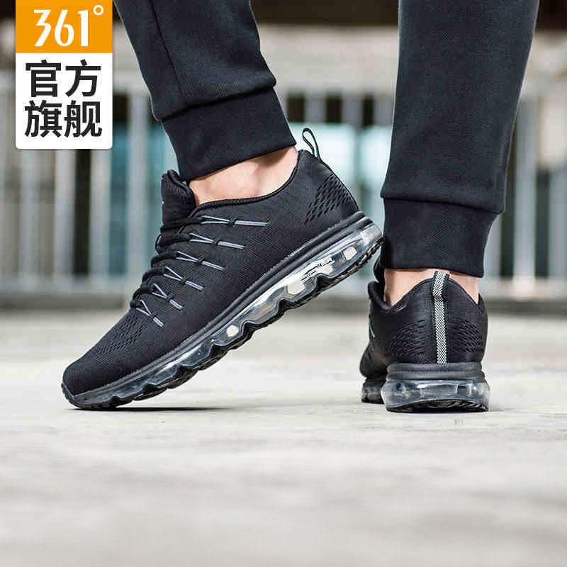 【过年不打烊 2件4折】361度官方新款男子跑步运动常规跑鞋减震气垫运动鞋 1.23-2.1 361度大牌日 下单立减5元 满300减110