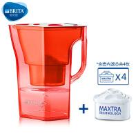 【当当自营】碧然德(BRITA) 过滤净水器 家用滤水壶 净水壶 限量  Navelia2.3L 红色 1壶4芯