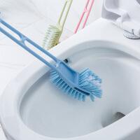 家居卫生间清洁马桶刷塑料加长柄双面软毛无死角马桶刷