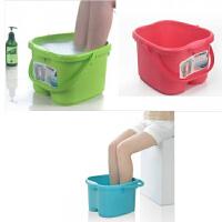 圣强 脚底按摩功能 塑料足浴桶 洗脚盆 洗脚桶 足浴盆