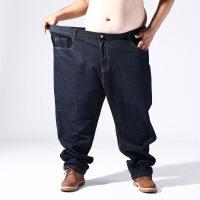 超大码男装超大号特大码肥佬牛仔裤高腰3尺8-4尺6宽松加肥加大男装夏秋弹力