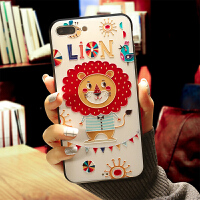 【支持礼品卡】苹果6s手机壳挂绳浮雕可爱卡通日韩全包iphone7plus软边女款