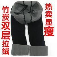 维康加厚款 双层拉绒 冬季保暖打底裤竹炭打底裤 拉绒九分裤JJA115