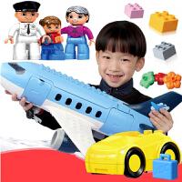 大号飞机拼插模型男女孩玩具3-6-8岁儿童积木玩具益智大颗粒拼装
