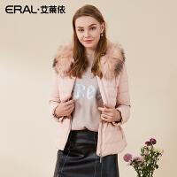 ERAL/艾莱依冬季韩版圆领修身羽绒服女加厚长袖短款12017-EDAA