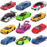 儿童1:32车模兰博基尼合金玩具车跑车回力仿真汽车模型摆件