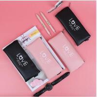 文具盒女韩国创意可爱笔袋简约女生小清新大容量文具袋女铅笔盒男