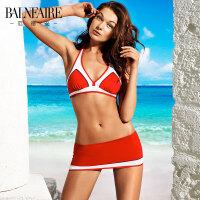 范德安大胸聚拢性感三角分体比基尼泳衣女沙滩度假比基尼大码泳装泳馆竞技温泉