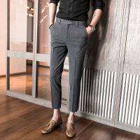 男裤休闲裤子男士9分裤垂感西裤男九分裤薄款修身潮流韩版小脚裤