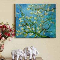 精准印花十字绣画 梵高杏花油画世界名画 欧式新款客厅大幅丝线
