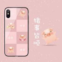 日本和风新年小猪苹果6plus手机壳iphone8plus猪年7个性创意6s可爱粉色女x卡通xs max情侣保护7p本