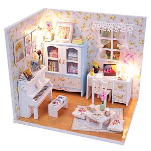 DIY小屋 创意礼品七夕情人节礼物520生日礼物女孩女生公主手工制作盒玩具