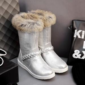 O'SHELL欧希尔新品119-6017韩版亮片布女士雪地靴