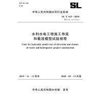 水利水电工程施工导流和截流模型试验规程 SL/T 163-2019 替代SL 163-2010(中华人民共和国水利行业