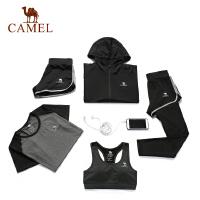 【热销爆款】camel骆驼瑜伽女款针织五件套 运动外套T恤内衣短裤长裤