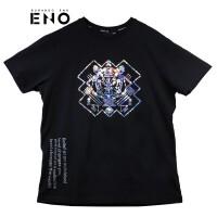 BURANDOENO潮牌新款男士T恤衫虎头亮片潮流时尚E19S51MSS076