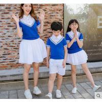 户外新款亲子装休闲百搭全家装一家三口四口韩版时尚套装母子母女装潮