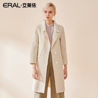ERAL/艾莱依毛呢外套女中长款韩版2018新款双面羊绒大衣617073020