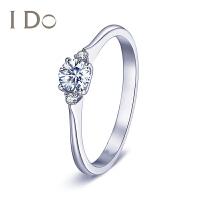 【门店同款】I Do THE MOMENT系列 18K金钻石戒指女30分求婚50分婚戒专柜正品ido
