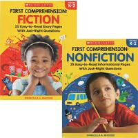 Scholastic First Comprehension K-2  学乐漫画版图解英语2册 儿童英语学习辅导用书 附答案 英文原版绿山墙