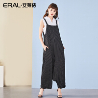 ERAL/艾莱依2018夏季女装背带阔腿裤女高腰宽松时尚吊带连体裤女667X230008