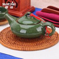 单个泡茶壶茶水手抓壶整套冰裂茶壶 家用功夫陶瓷茶具套装